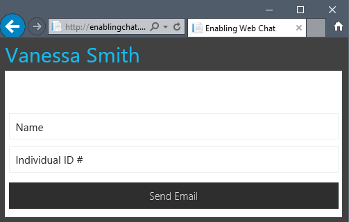 Staff Directory Live Chat Window 3